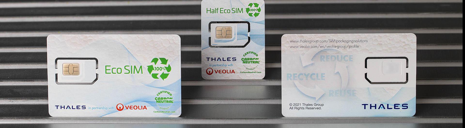 Una tarjeta SIM fabricada con frigoríficos reciclados